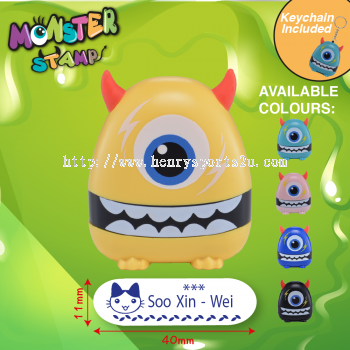 One Eyed Monster Stamp Yellow