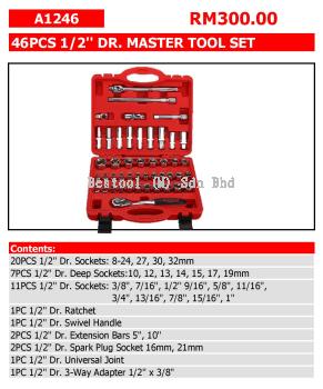 46PCS 1/2'' DR. MASTER TOOL SET P/N: A1246