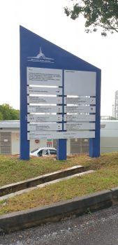 papan tanda projek pembinaan majlis perbandaran sepang
