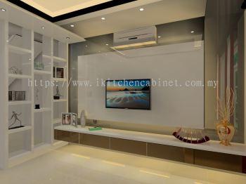 TV2 - TV Cabinet with display shelf