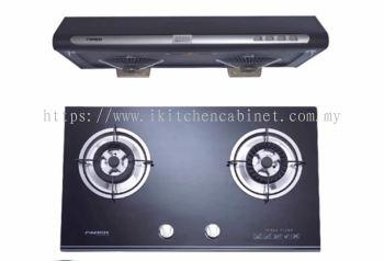 KA11 - slim cooker hood and glass hob