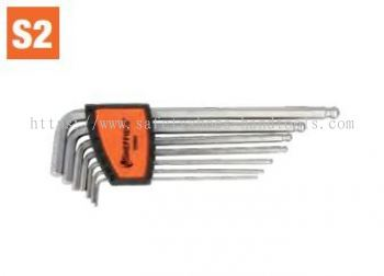7 pcs Extra-Long Arm Ball End Hex Key Set (S050009)