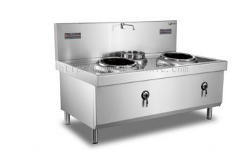 500mm Dual Burner Single Basin Induction Wok ZC2-C5040A-W