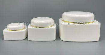 Square Series Cosmetic Jar Set : 1801 & 1581 & 1821