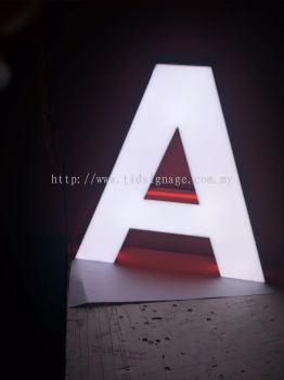 3D box up led signboard EG box up