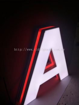Led Front and side 3D box up Lettering EG box up