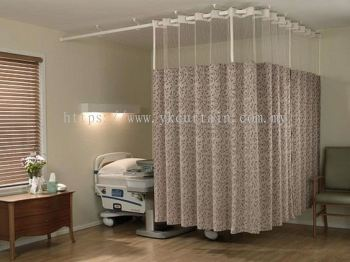hospital single bedded room curtain