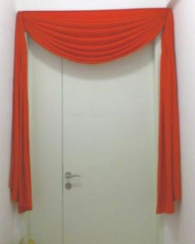 Ready Stock for Red Cloth Door Curtain (Ang Chai)
