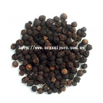 ORGANIC BLACK PEPPER WHOLE - NATURAL