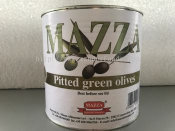 Pitted Green Olives (D.W 1.2kg)