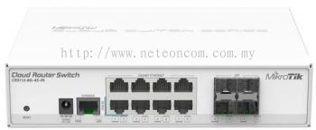 MikroTik CRS112-8G-4G-IN Network Switch