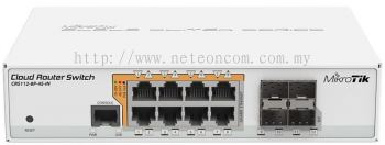 MikroTik CRS112-8P-4S-IN POE Switch