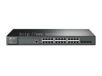 TP-Link T2600G-28TS (TL-SG3424) JetStream 24-Port Gigabit L2 Managed Switch with 4 SFP Slots