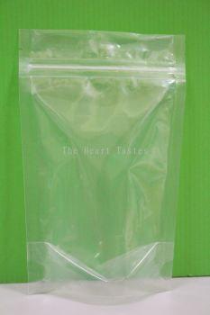 Transparent Zipper Food Packaging Bag - 15cm x 23cm
