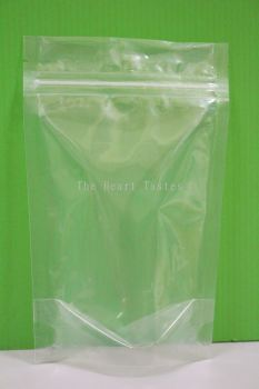 10pcs Transparent Zipper Food Packaging Bag- 15cm x 23cm