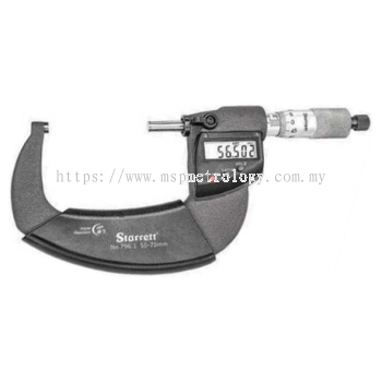 Starrett Electronic Micrometer IP67 796.1MXRL-75 Series