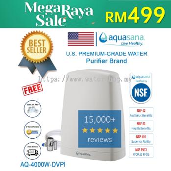 AQUASANA AQ-4000W-DVPI (Latest Model) Water Filter Water Purifier - 4 NSF Certified (2 Years Housing Warranty)