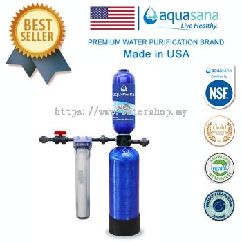 AQUASANA EQ-1000 Whole House Filter System 1,000,000 Gallon Rhino (Body Vessel Warranty - 5 Year)