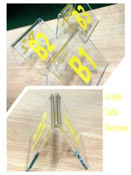 TENT STYLE ACRYLIC TABLE NUMBERS