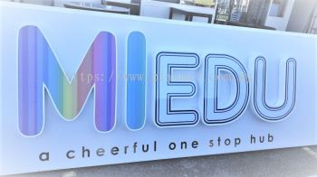 ALUMINIUM BOX UP LETTERING WITH LED CONCEAL FRONT-LIT