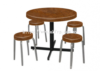 Round Restaurant Table with 4 seats