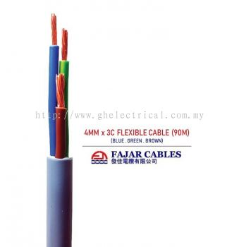 Fajar 0.5mm-6mm X 3core Flexible Cable