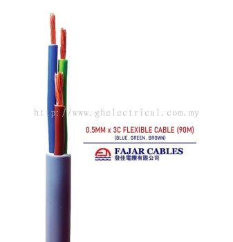 Fajar 0.5mm-6mm X 3core Flexible Cable