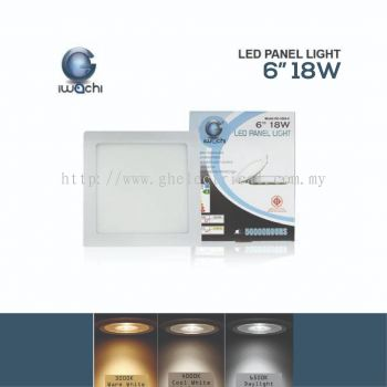 "Iwachi 18w 6"" Led Panel Light (round And Square)"