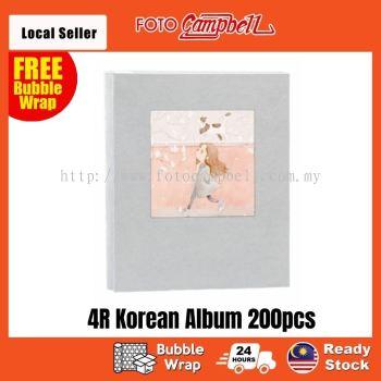 4R-200pcs fabric cover Pocket AlbumReady Stock---blue girl