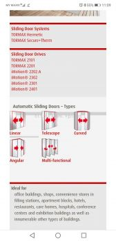TORMAX 2201 SLIDING DOOR