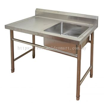 SINGLE BOWL SINK WITH TABLE (RIGHT-SIDE)