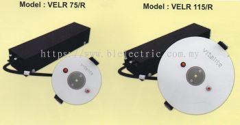 LED Emergency Light-Round Recessed Type-VELR 75/R & VELR 115/R