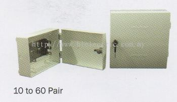 Plastic Tel Distribution Box 10 to 60 Pair