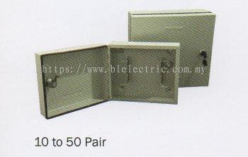 Metal Tel Distribution Box 10 to 50 Pair