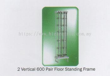 2 Vertical 600 Pair Tel Floor Standing Frame