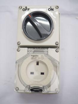 Schneider Weatherproof Switch Socket IP56-56C313