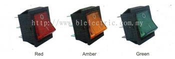 Rocker Switch C/w Neon - 15A