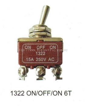 Plasma Toggle Switch 1322 On/Off/On 6T
