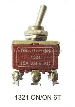Plasma Toggle Switch 1321 On/On 6T