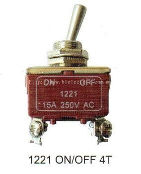 Plasma Toggle Switch 1221 On/Off 4T