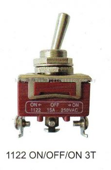 Plasma Toggle Switch 1122 On/Off/On 3T