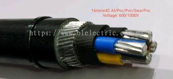 Utama 16mm x 4C Al/Pvc/Pvc/Swa/Pvc