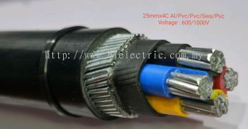 Utama 25mm x 4C Al/Pvc/Pvc/Swa/Pvc