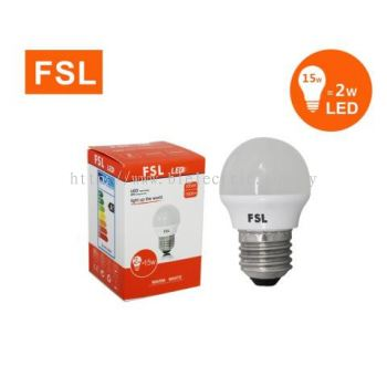 FSL 2w E27 LED Bulb - 3000K