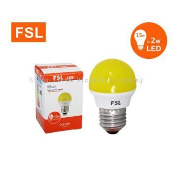 FSL 2w E27 LED Bulb - Yellow