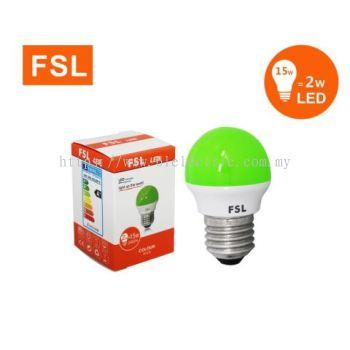 FSL 2w E27 LED Bulb - Green