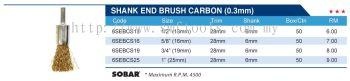 SHANK END BRUSH CARBON (0.3MM)