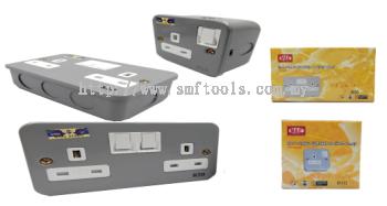 13A 1 Gang Metal Clad Switch Socket