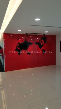 Red Tempered Color Glass