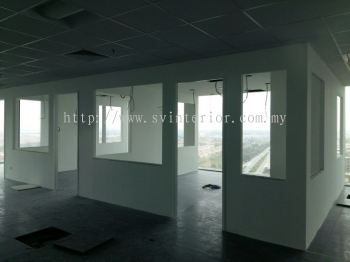 partition wall panel with temperate glass window